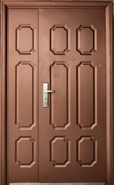 металлическая двухстворчатая дверь ширина 1200 мм металический лист